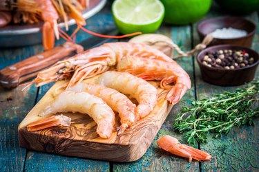 Avoid imported wild shrimp and prawns.