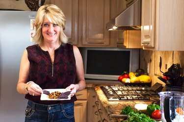 """""""I absolutely could not live without lots of fresh, green veggies, tomatoes and garlic."""""""