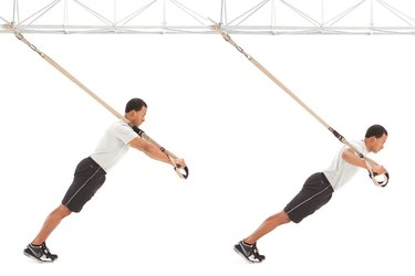 Man doing TRX Chest Press on the TRX Suspension Trainer