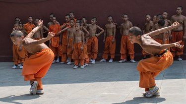 Kung-fu can provide a very good workout.