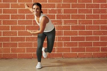 Woman doing a Tabata workout