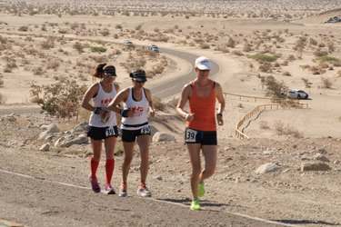 Women running Badwater Ultramarathon