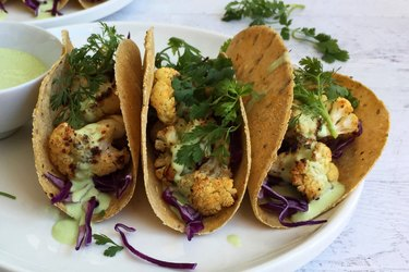 Chipotle-Rubbed Cauliflower Tacos