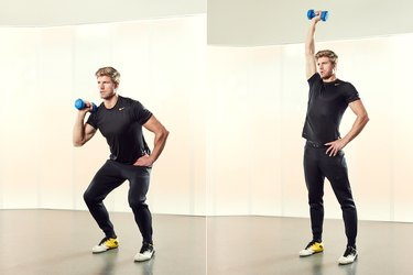 Man Demonstrating How to Do a Single-Arm Dumbbell Push Press