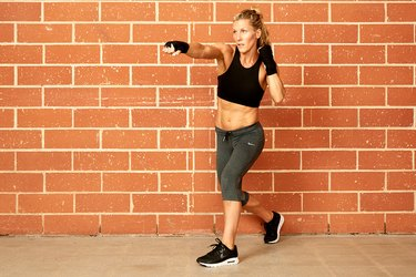 woman doing boxing workout