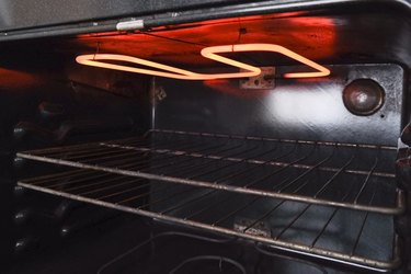 Preheating the broiler in the oven
