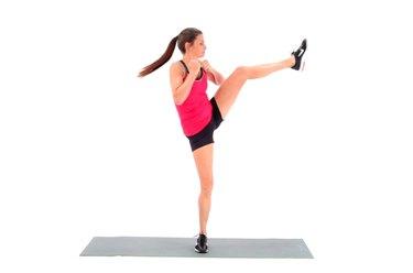 Proper form for crescent kicks.