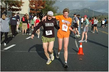 Runners at The Couples Relay