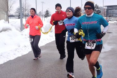Runners at the Valentine's Two-Mile Labor of Love Run