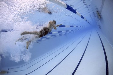 Swimming is one of many activities that build aerobic capacity.