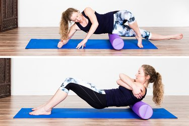 Woman Foam Rolling to Recover from an Injury