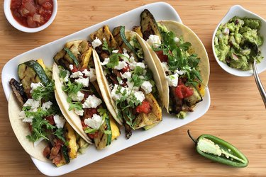 Grilled Farmers Market Veggie Tacos