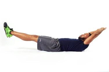 man doing an abdominal exercise