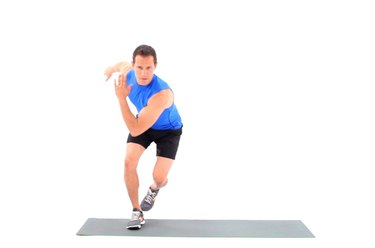 Proper form for speed skaters.
