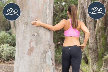 Woman Doing Pectoral Wall Stretch to Prevent Injury