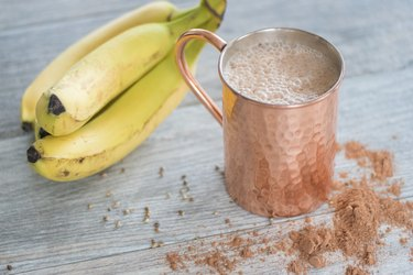 This smoothie tastes like hot  cocoa and is packed with good-for-you ingredients.
