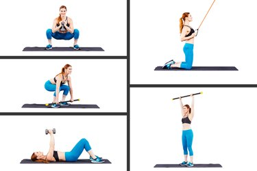 Holly Perkins demonstrating the five best exercises for women to get lean