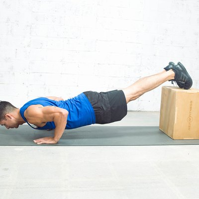 man doing decline push-up for the push-up challenge
