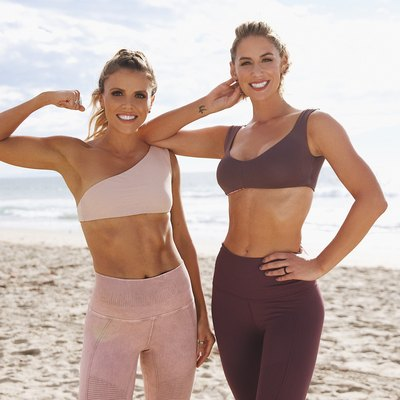 tone it up girls showing upper body strength