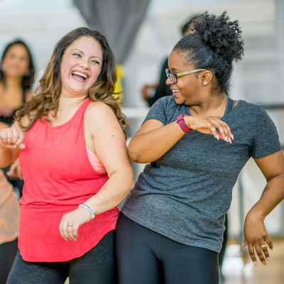 Women enjoying a dance class