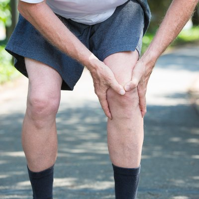 man with knee pain and a possible bone bruise