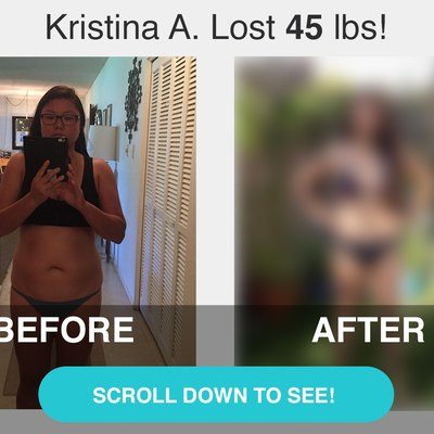 Scroll down to see Kristina's before and after transformation.