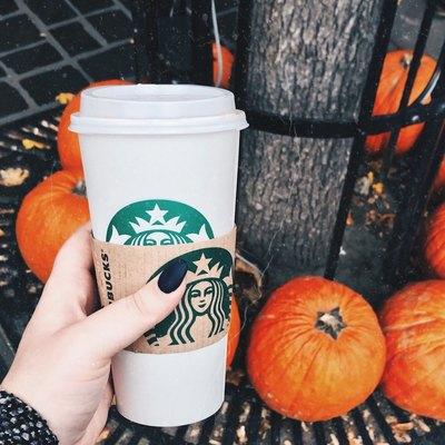pumpkin spice latte in the fall