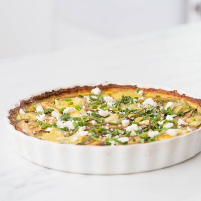 cauliflower crust quiche