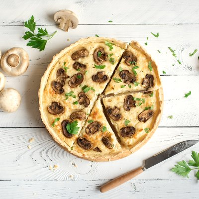 Mushroom Quiche Pie