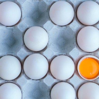 Full Frame Shot Of Egg Carton