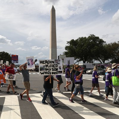 Activists March On Capitol Hill To Urge Congress To Approve Funding For Opioid Crisis