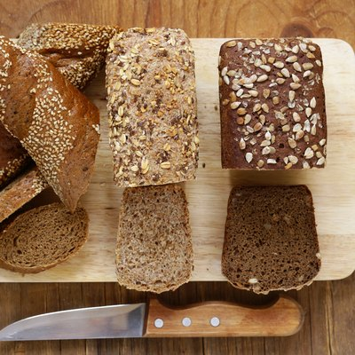 Natural organic bread made from whole wheat flour