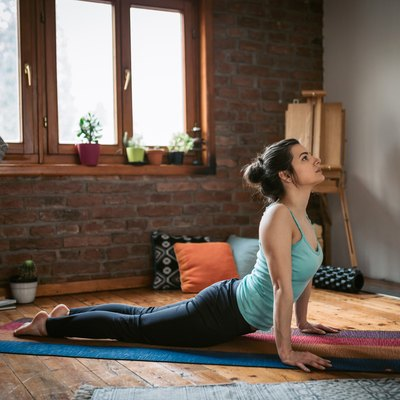 Yoga at home: Upward facing dog pose, a core stretch