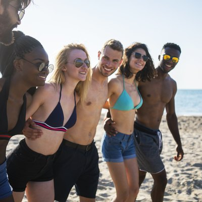 Beach fun with friends