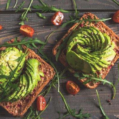 Delicious avocado sandwiches