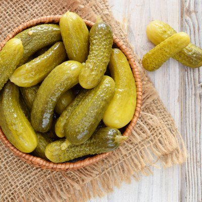 Pickles or cucumber cornichons