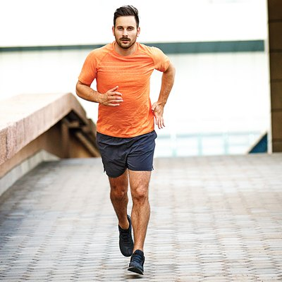Man training for his first 10K race