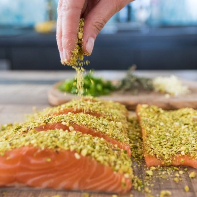 Cooking with salmon