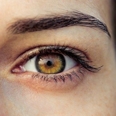 Brown female eye