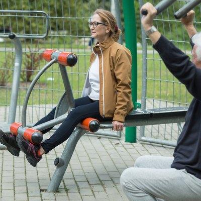 Fitness mature couple