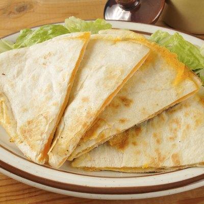 Cheese quesadillas on lettuce
