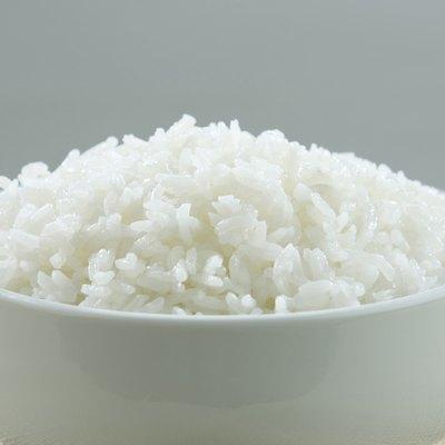 Jasmine Thai rice in a rice bowl isolated