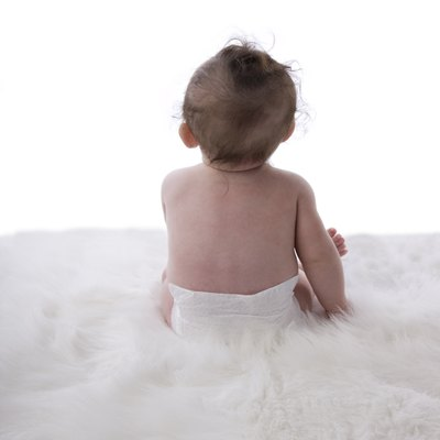 Six Month Old Baby in Diaper (XXL)