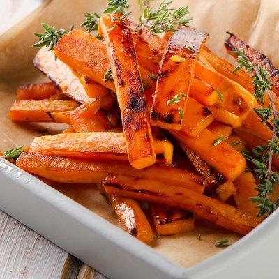 sweet potato fries with fresh herbs