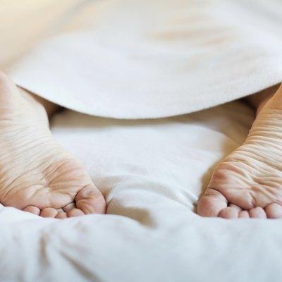 feet under blanket