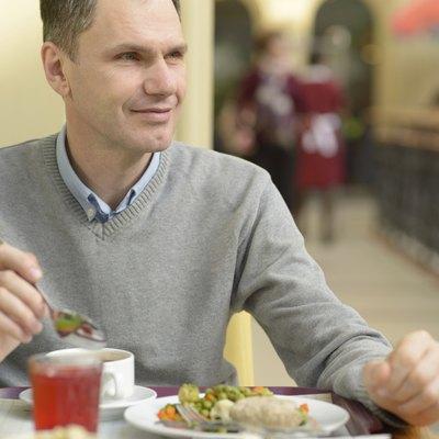 Man during dinner