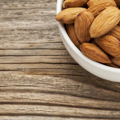 almond nuts in a bowl