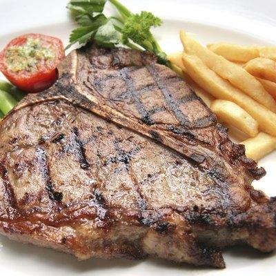 portion of t-bone steak