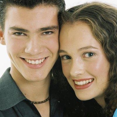Portrait of teenage boy and girl