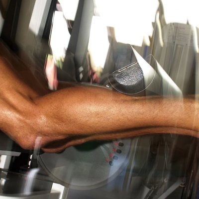 Man doing leg curls